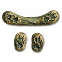 Antique Brass Wolf Tracks Cabinet  Hardware