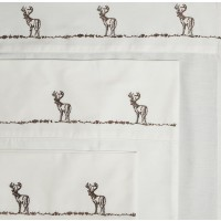 Embroidered Buck Sheet Sets -100% Cotton