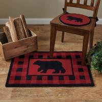 Buffalo Check Bear Hook Rug