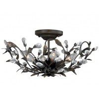 Crystal Trellis Ceiling Light