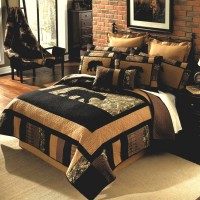 Camo Bear Quilt Set-Queen