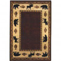 Cabin Retreat Area Rug - Merlot -DISCONTINUED