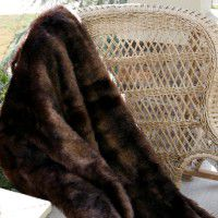 Luxury Faux Bear Throw
