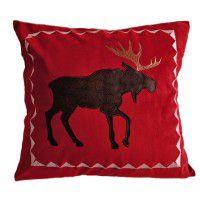 Red Velvet Moose Pillow