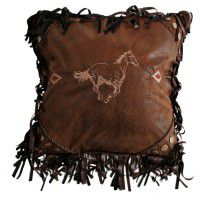 Flying Horse Embroidered Pillow