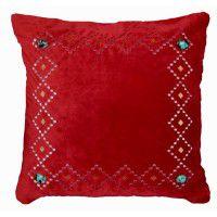 Red Velvet Diamond Pillow