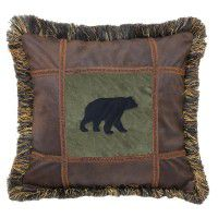 Bear on Pine Pillow