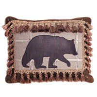 Fringed Tacoma Bear Pillow