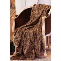 Plush Leopard Throw