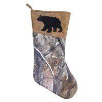Real Tree Camo Stocking - Bear