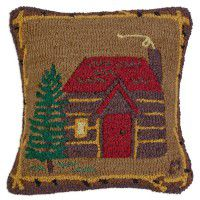 Cabin in the Woods Wool Pillow