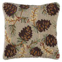 Northwoods Pine Cone Pillow