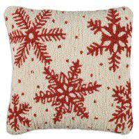 Icy Flakes Snowflake Pillow