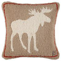 Khaki Moose Pillow