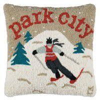 Park City Skier Pillow