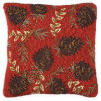 Ruby Pine Cones Pillow