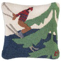 Skiing in The Trees Pillow