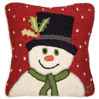 Snowman with Top Hat Pillow