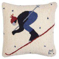 Whiteout Skier Wool Pillow
