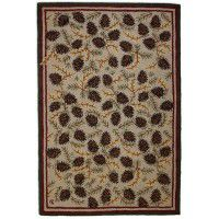 Northwoods Pinecone 4x6 Rug