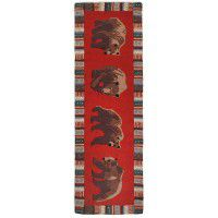 Cinnamon Bears Wool Runner