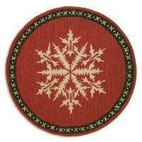 Snow Flake Round Rug