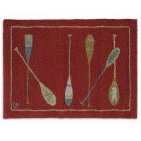 Crimson Paddles Rug