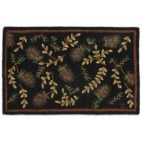 Willows and Cones Accent Rug