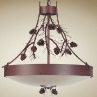Pine Cone & Needles Chandelier
