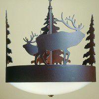 Scout Elk Chandelier