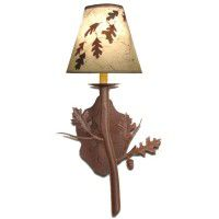 Oak Leave and Acorn Wall Lamp