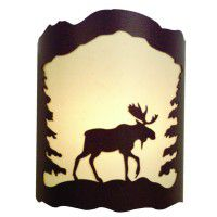 Moose and Pine Tree Sconce