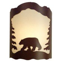 Bear and Pine Tree Sconce