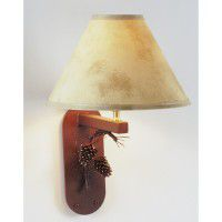 3D Pine Cone and Needles Wall Lamp