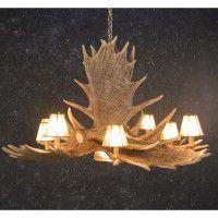 Saskatoon 6 Antler Chandelier with Down Light