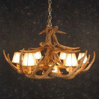 Woodland 12 Antler Chandelier with Down Light
