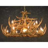 Woodland 24 Antler Chandelier with Down Light