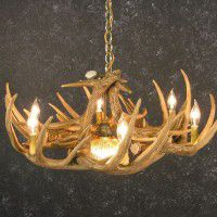 Woodland 9 Antler Chandelier with Down Light