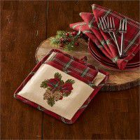Highland Holiday Pocket Potholder Set
