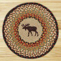 Hand Printed Moose Chair Pads - Set of 4