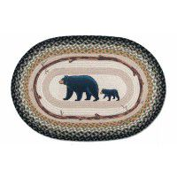 Mama & Baby Bear Braided Rug