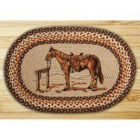 Oval Horse Braided Rug