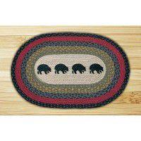 Black Bears Jute Rug