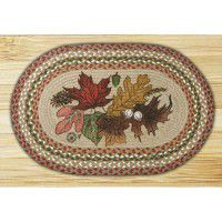 Autumn Leaves Braided rug