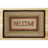 Print Patch Welcome Jute Rug