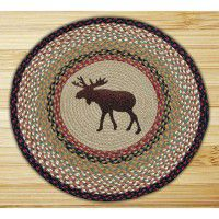 Round Moose Jute Rug