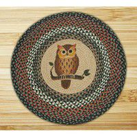 Round Owl Jute Rug