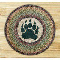 Round Bear Paw Jute Rug