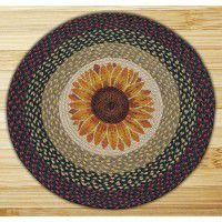 Round Sunflower Jute Rug