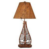 Double Snowshoe Table Lamp